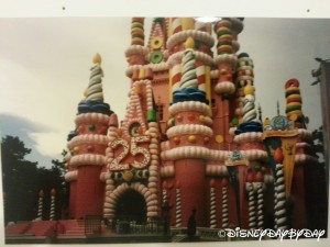 Disney World 25th Anniversary Cake Castle
