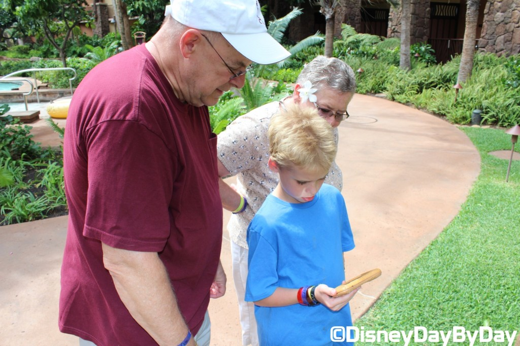 Grandpa Helps on the Aulani Menehune Adventure Trail