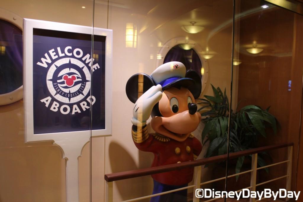 Disney Signs - Disney Cruise Welcome Aboard - DisneyDayByDay
