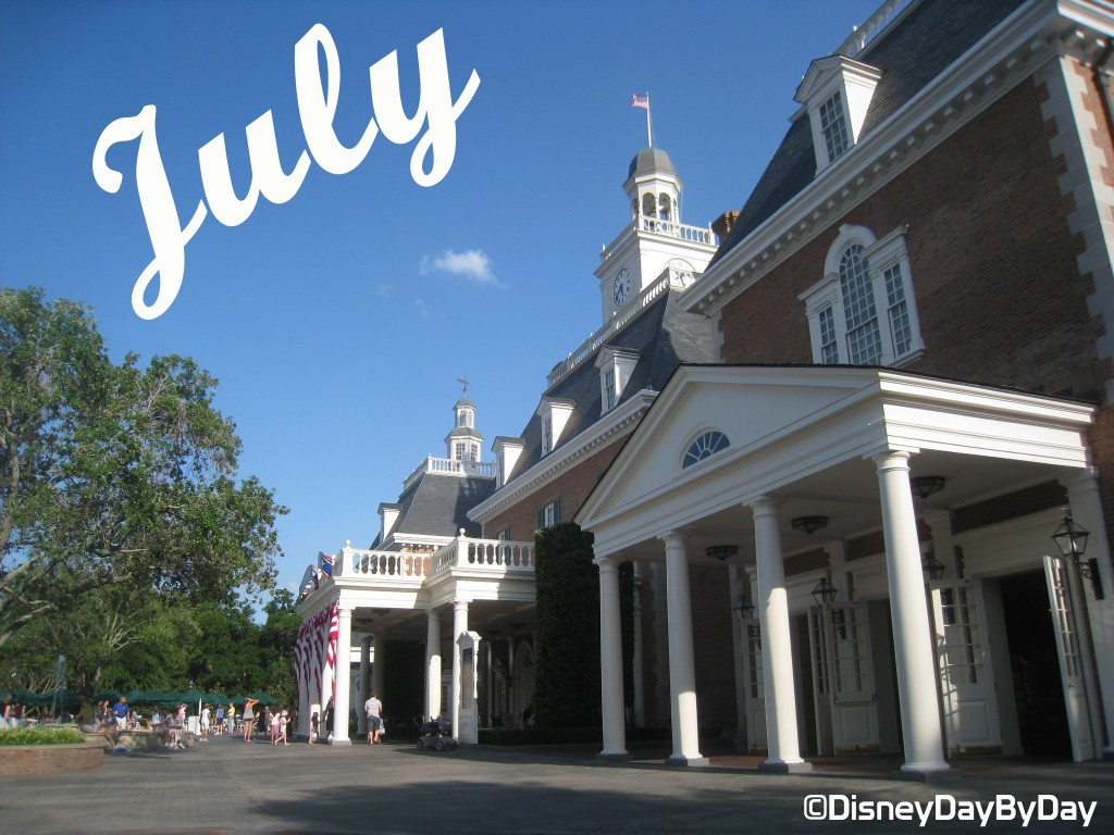 July Calendar - American Adventure - DisneyDayByDay