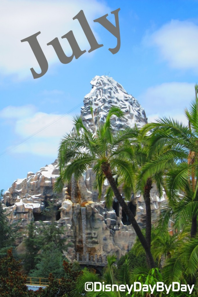July Calendar - Matterhorn - DisneyDayByDay
