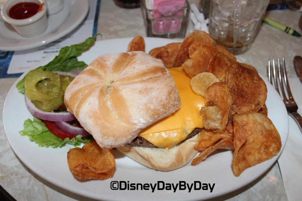 Plaza Restaurant - Angus Chuck Cheeseburger - DisneyDayByDay