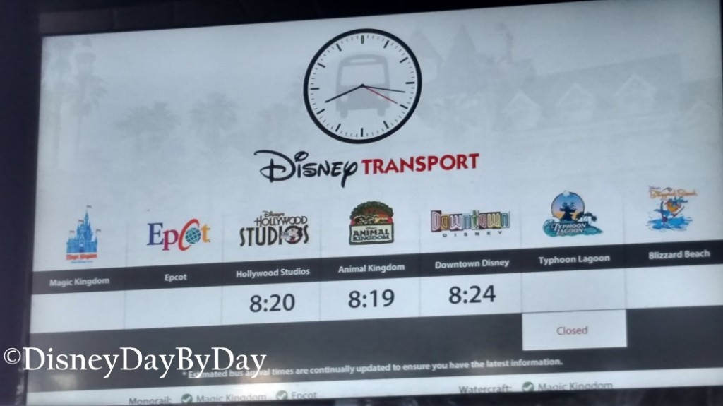 Disney World Bus Transporation Time Estimate - DisneyDayByDay