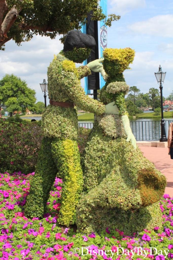 Silent Sunday in the Park - Cinderella - Epcot Flower and Garden - DisneyDayByDay