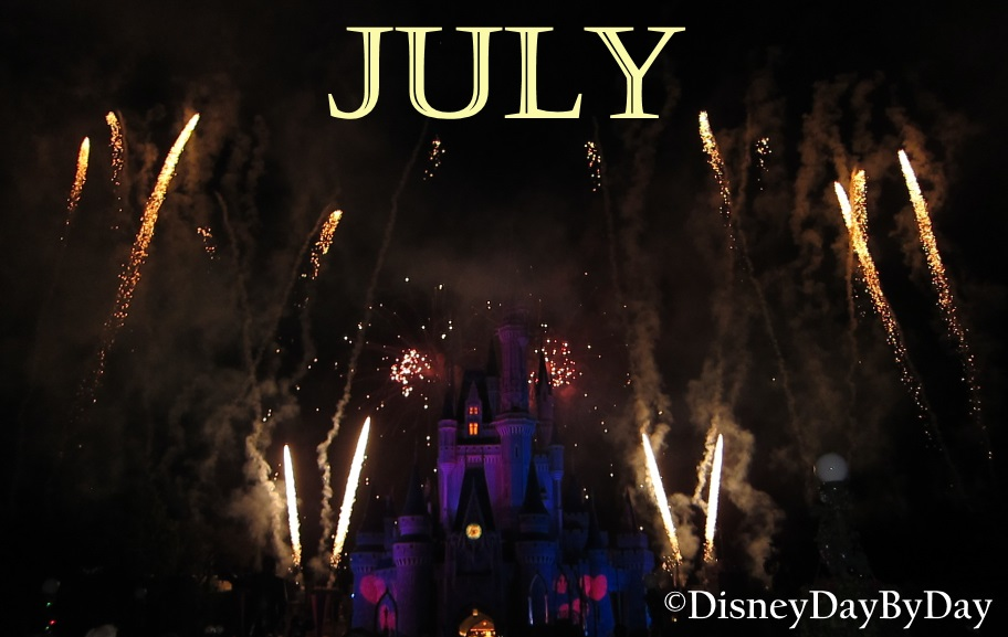 Disney World Calendar - July - DisneyDayByDay