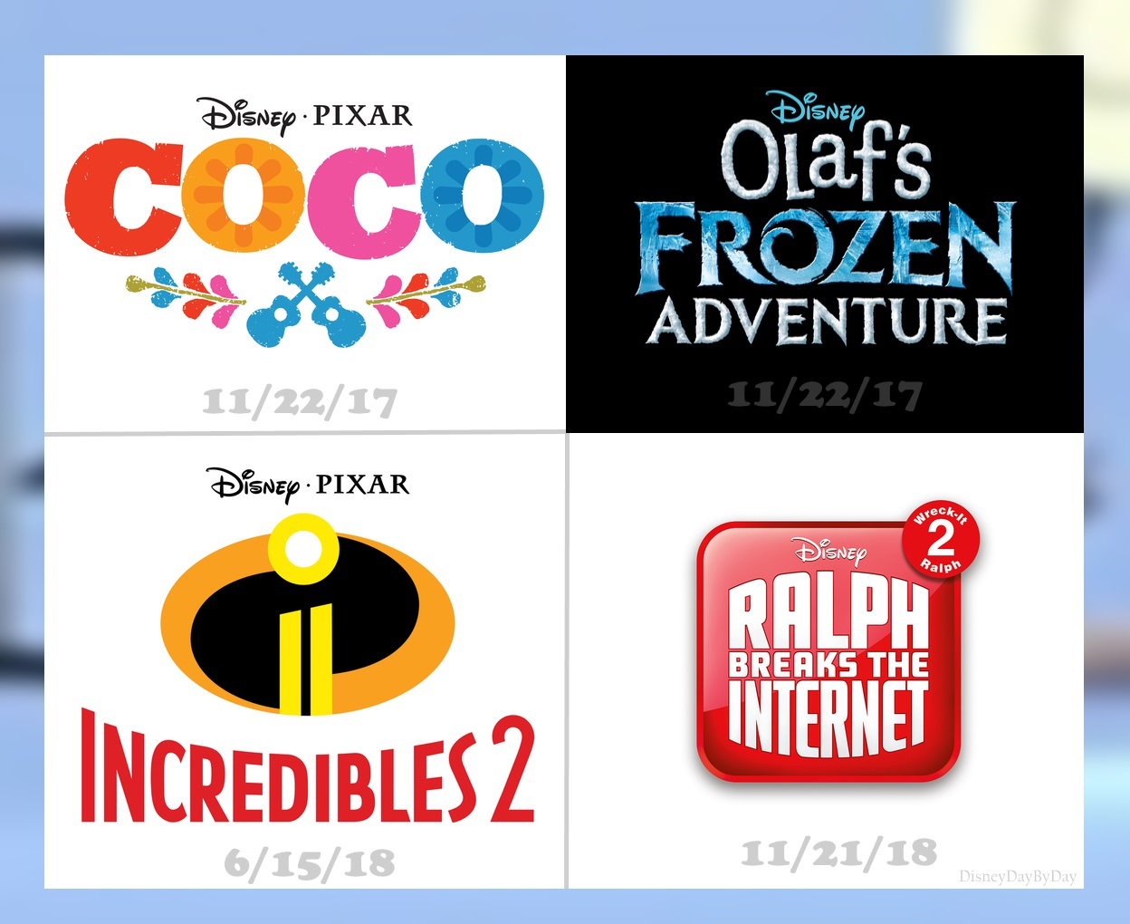 Walt Disney and Pixar Animation Studios New Movie Dates
